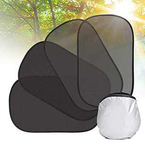 """Car Window Shade 4Pcs 21""""x14"""" Car Sun Shade for Side Window Protection Baby Child Kids from Sun, UV Rays, Heat (4 Pack with Pouch) Friendly Side Window Sunshade Fit Most Cars, ARANA"""