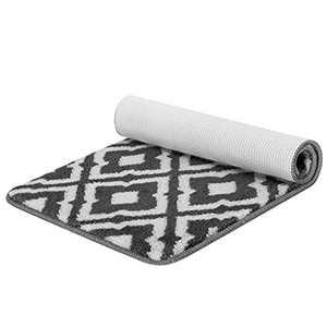 """SMARTAKE Indoor Doormat, 20""""x32"""" Front Door Rug, Absorbent Resist Dirt Front Back Rug, Low-Profile Machine Washable Durable Entrance Mat, Non-Slip Door Mat for Entryway, Patio, Bathroom, Kitchen(Grey)"""