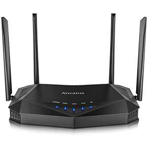 Ancatus-WiFi 6 Router AX1800, 1.8G Dual Band WiFi Router, Gigabit Wireless Router, MU-MIMO OFDMA Internet Router, 802.11ax Ethernet Computer Router, 2100 sq.ft. WPA3, 5Ghz, Firewall, USB, Dos