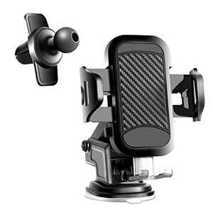 Car Phone Mount Ultra Stable Car Phone Holder, Universal Dashboard Air Vent Windshield Long Arm Strong Suction Cell Phone Holder for Car Compatible with iPhone 12 11 Pro Max SE XS XR 8 Galaxy S21 etc