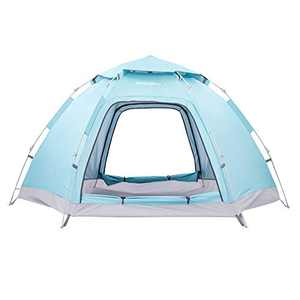 HMLWMJ 4 People Anti-UV UPF50+ Pop Up Tent for 4 Season Waterproof, 6 Angle Hydraulic Instant Tent Backpacking with Automatic Setup for Camping Hiking…