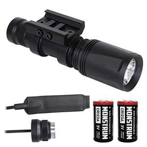 Monstrum FP 400 Lumens Weapon Light with Remote Pressure Switch and Picatinny Rail Mount | Black