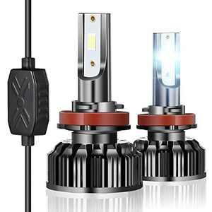 90W 10000 Lumen LED Headlight Bulbs, Super Bright H11 H9 H8 6500K LED Headlights Conversion Kit, Pack of 2