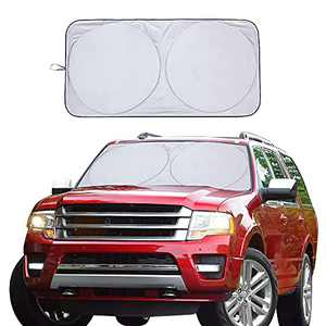 Vepagoo Car Windshield Sun Shade Window Cover Shade Interior Sun Protection 67inX34in, UV Rays and Sun Heat Protector, Keep The Car Interiors Cool, Prevents Dashboard Fade and Crack.