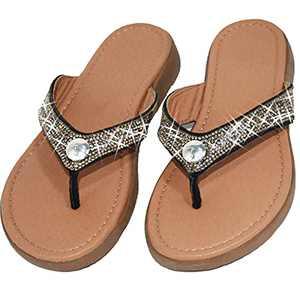 Glitter Sparkle Flip Flops Rhinestones Glitter Slides For Women Dressy Summer Bling Crystal Diamond Sandals Black Women Size 10