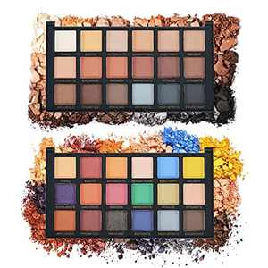 Eyeshadow Palette Makeup Pallet Eye Shadow Palettes Pearl Matte Velvet Texture Eyeshadow Palette Eye Makeup 18 Color Suitable for Rock Style Smoky Makeup,2 pièces