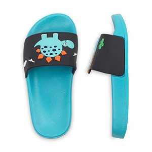 Kids Slide Boys Girls Sandals for Toddler Soft Anti-Slip Shower Sandals for Beach Pool Indoor Outdoor Bathroom