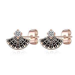 RBG Earrings Stud Earrings for Women, S925 Sterling Silver RBG Dissent Collar Stud Earrings RBG Earrings Hypoallergenic Earrings RBG Jewelry Gifts for Women Fans Of Ruth Bader Ginsburg