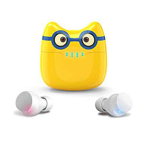 Cartoon Bluetooth Earbuds, Wireless Earbuds with Cute Charging Case, Waterproof Stereo TWS Wireless Earbuds with Mic,Bluetooth 5.0 Earset for iPhone and Android