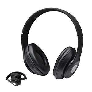 XMNYGJ Foldable Portable Over Ear Headphones, Gaming Headset Wired Closed Soundproof and Noise-Reducing Smart Headphones, Suitable for Schools, Homes, Mobile Phones, Computers (Black)