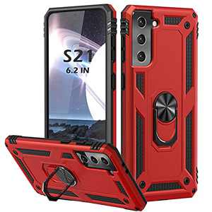 Samsung Galaxy S21 Case, Fansteck S21 Phone Case with 360° Ring Kickstand, Drop Tested Anti-Scratch Impact-Resistant Bumpers Cover with Magnetic Car Holder for Samsung S21 5G(6.2 inch)