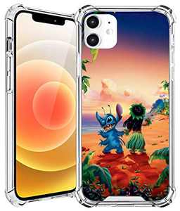 iPhone 12/12Pro Case (6.1 Inch) Back Cover,Clear Design,Hard Back with TPU Bumper,Protective,Anti Scratch Resistant,Ultra Slim,and Shock Absorption Frame