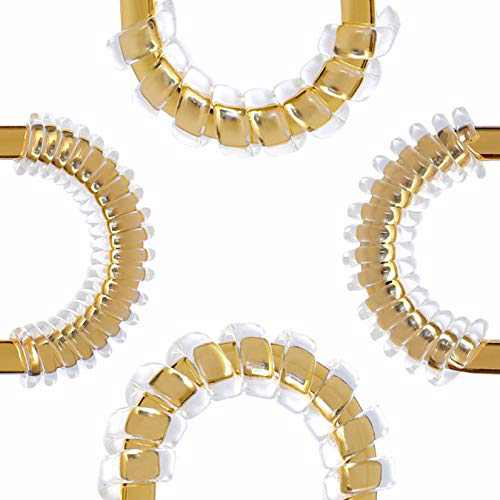 OAikor Invisible Spiral Silicone Tightener Set Adjuster Perfect for Luxury Handbag Buckles Guard, Jewelry Sizer, Spacer Set (Transparent, 12 Pcs in 4 Sizes)