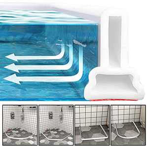 78 Inch Collapsible Shower Threshold Water Dam,Bendable Silicone Water Blocking Strips,Dry And Wet Separation,Water Barrier for Bathroom Kitchen Sink