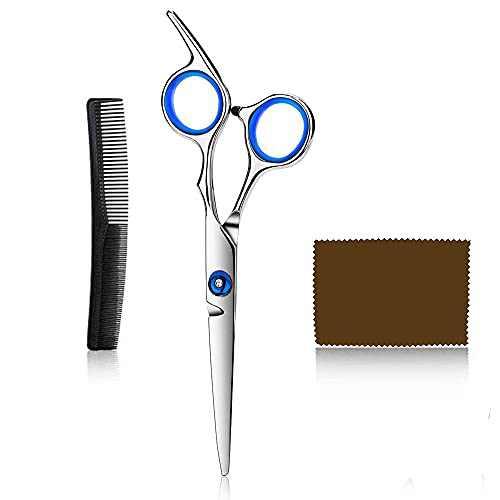 Care Hair Cutting Scissors Shears Professional Barber Shears Razor Edge Scissor Japanese Stainless Steel Hairdressing Scissors for Kids,Men,Women and Adults 6.5 inch