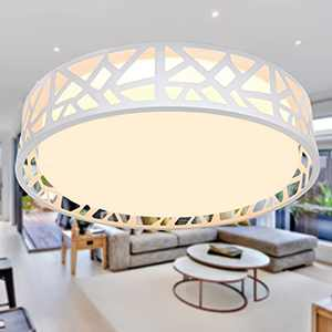 Flush Mount LED Ceiling Light, 15 inch Led Ceiling Fixture with Remote, Dimmable 2700K-6500K 3 Color Changeable Light Fixtures for Bedroom, Hallway, Living Room