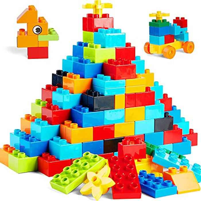 WYSWYG Classic Big Building Block Set , Large 240 Pieces Building Bricks, Compatible with All Major Brand Bulk Bricks , Toddler STEM Toys for Boys Girls Age 3 4 5 6 Years Old