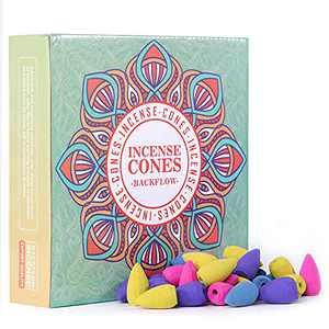 160 Pcs Backflow Incense Cones Lavender Jasmine Rose Ocean for Meditation & Yoga Gift