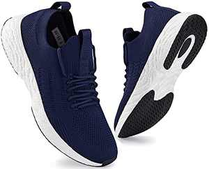 SCICNCN Mens Walking Shoes Lightweight Breathable Slip On Athletic Sneakers Tennis Casual Running Shoes Blue