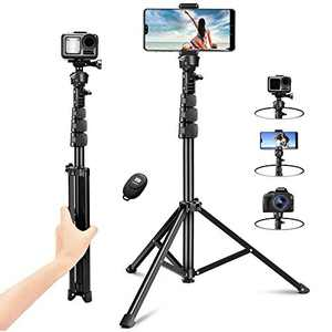 """Phone Tripod, 51"""" Extendable Selfie Stick Tripod, Portable Tripod Stand with Wireless Remote. Compatible with iPhone 11/12/X/XR, Android, and DSLR. Perfect for Video Recording/Vlogging/Live Streaming"""