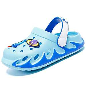 Xingfujie Toddler Clogs Slippers Sandals Slip On Shoes for Boys and Girls Water Shoes Sneakers Garden Shoes for Beach Size 13.5 Little Kid Light Blue