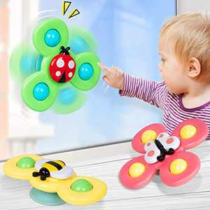 NARRIO Learning Toys for 1 2 Year Old Boy Gifts, Infant Baby Toys 6-12-18 Months Suction Cup Spinner Toy, Christmas Birthday Gifts for 1 2 Year Old Girl Spinning Top Sensory Toys for Toddlers Age 1-3