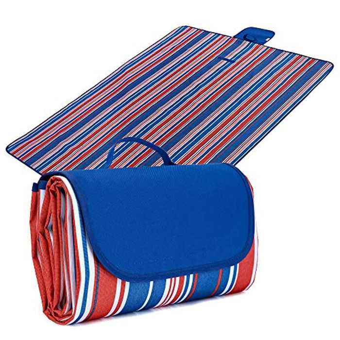 Rantizon Picnic Blankets, 220 X 200 cm Waterproof Picnic Rug Folding Large Size Picnic Blanket for Family Waterproof Compact Picnic Mat Lightweight Picnic Blankets with Backing 87 x 79 inches