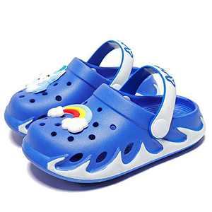 KUBUA Kids Garden Clogs Slip On Water Shoes for Boys Girls Blue
