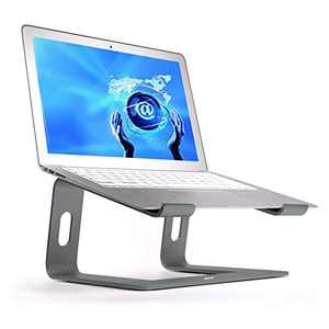 Laptop Stand, Aluminum Computer Riser, Detachable Ergonomic Laptops Elevator for Desk, Metal Holder Compatible with 10 to 15.6 Inches Notebook Computer - Space Gray