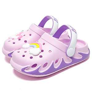 KUBUA Kids Garden Clogs Slip On Water Shoes for Boys Girls