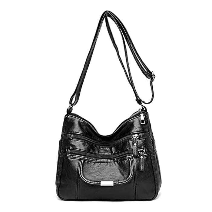 Purses and Shoulder Handbags for Women Crossbody Bag Messenger Bags,Multi Pocket Messenger Handbag for Shopping Hiking Daily Use