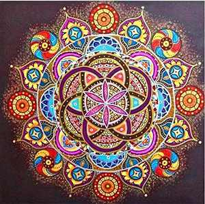 FONYANE DIY 5D Diamond Painting Mandala (Set by Number) Digital Painting Round Diamonds Diamond Paiting Kits for Adults Bead Pictures Arts Craft for Home Wall Decor Gift(30x30cm/12x12in)