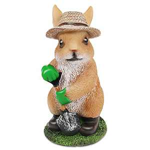 Rabbit Garden Statue Bunny Figurine Straw Hat Rabbit for Outdoor Indoor Decoration Decor for Yard Lawn Ornament Gift New