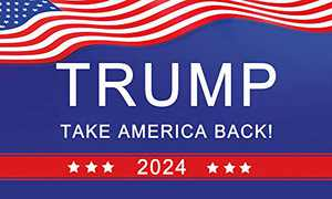 Trump 2024 flag Take America Back, Donald Trump Outdoor Yard Porch Patio Flag, 3x5ft, Double Stitched Blue Polyester Flag with Heavy Grommets