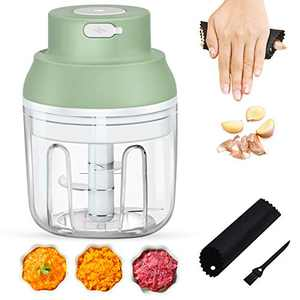 Electric Mini Food Chopper,Wireless Mini Food Processor Food Dicers Electric Mincer Food Slicer Crusher, Rechargeable Powerful Vegetable Chopper for Onion Vegetables Meats