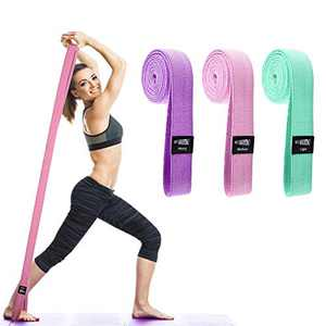 WOTEK Fabric Long Resistance Bands Set of 3 - Pull Up Bands for Working Out - Elastic Bands for Exercise, Full Body Workout, Resistance Training, Physical Therapy Bands, Home Workout Booty Bands