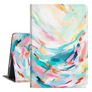 Lalumix iPad 8Th Generation Case iPad 7Th Generation Case,iPad Case 10.2 Inch Cover for Women Girls with Auto Wake/Sleep Multi-Angle Viewing Adjustable Stand (Colored Point Block Art Oil Painting)