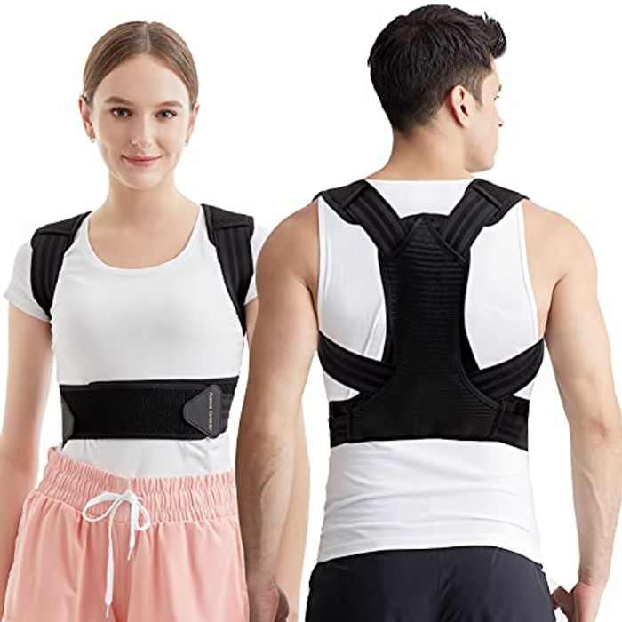 Posture Corrector for Men and Women,Rishaw Spinal and Back Brace Straightener with Breathable & Adjustable Belt for Improves Posture, Back,Neck and Shoulder