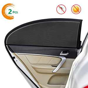 Car Sun Shades for Side Window Car Interior Sun Protection for Baby, Double Layer Design, Blocks Over 98% of Harmful UV Rays, Protect Child from Sun Glare, Heat, Protect Privacy.