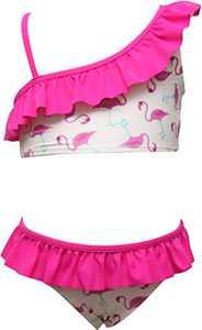 Macool Girls Bikini Toddler Kids Swimsuits Flamingo Baby Beach Swimwear 2 Piece Swimsuit Size 8