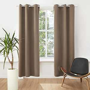 Bedsure Blackout Curtains 84 inch Length 2 Panel Sets - Grommet Curtains for Living Room - Thermal Insulated Curtains for Bedroom (42×84,Coffee)