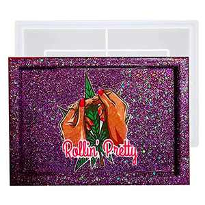 Resin Rolling Tray Mold - Large Silicone Epoxy Resin Tray Mold -10 x 7 x 0.8 inches - Sturdy & Reusable Epoxy Mold for Resin Casting