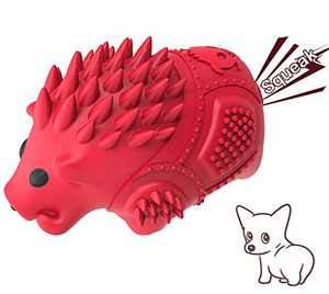 Warthog Dog Toys for Aggressive Chewers Large Breed - Interactive Durable Dog Chew Toys with Milk Flavor Natural Rubber and Cleaning Teeth for Large Dogs (Red)