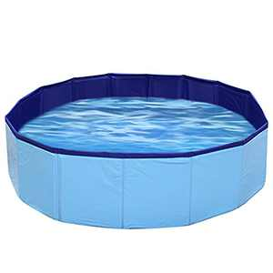 WISHTIME Kids Sand and Water Table - Portable Summer Pet Pool Foldable Beach Play Activity Playpen Play Yard Ball Pit Sandbox Diameter 32 Inch