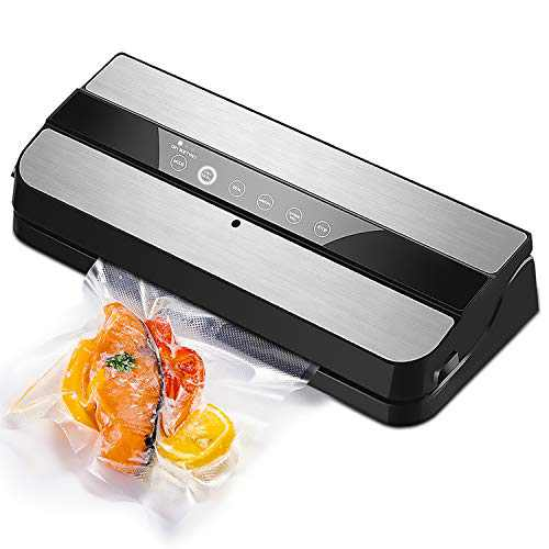 VANTEN Vacuum Sealer Machine, Food Sealers Vacuum Packing Machine for Food Savers w /Starter Kit,One-Touch Operation,Touch-Screen Key,Dry and Moist Food Modes,Use to Preserve Food Seal a Meal Vacuum Sealer Machine