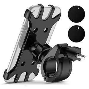 Bike Phone Mount Motorcycle Phone Mount LuenHego, Silicone Bicycle Phone Holder, 360° Rotation, Anti Shake, Fits All 4.0-6.5 inches Phone