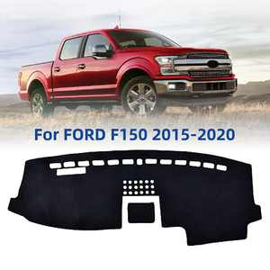 Byredio Suede Dash Cover Mat Replacement for Ford F150 2015-2020 Custom Fit Dashboard Cover Carpet Pad Non-Slip No Glare Sunshade