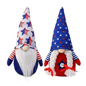 2 Pcs Gnome Gifts Holiday Decoration Kids Birthday Present Handmade Home Ornaments Table Ornament Summer Gnomes Farmhouse Gnomes(Style A)