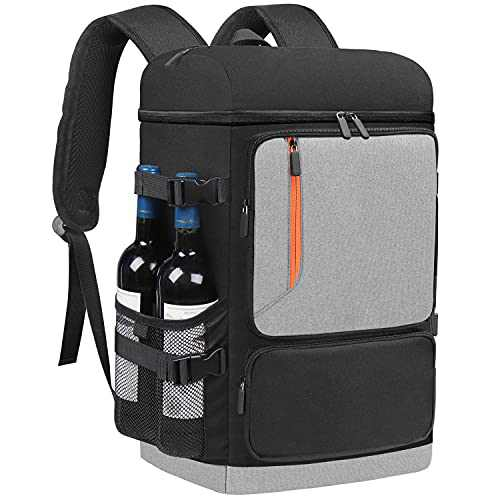 Insulated Cooler Backpack 58 Cans Large Capacity Backpack Cooler for Men Women, Leak-Proof & Waterproof with Bottle Opener, Double Deck Cooler Bag for Camping, Hiking, Beach