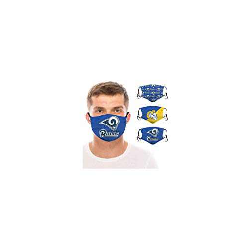 3 Packs Face Mask Washable Reusable Masks With 6 Filter For Women Men (Los Angeles-1)